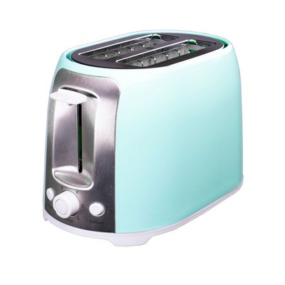 Brentwood TS-292BL 800 Watt 2 Slot 6 Setting Bread Slice Bagel Pastry Kitchen Toaster with Extra Wide Slots and Defrost, Blue