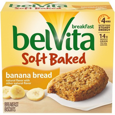belVita Soft Baked Banana Breakfast Biscuits - 5 Packs