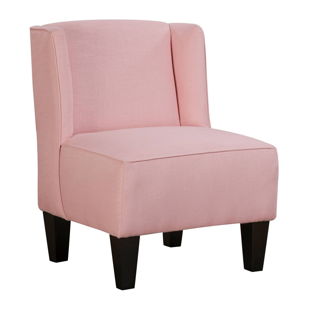 Image of Charlie Winged Slipper Chair Textured Linen Soft Blush - Chapter 3