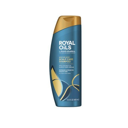 Royal Oils by Head & Shoulders Moisture Boost Scalp Care Shampoo for Natural, Coily and Curly Hair - 13.5 fl oz - image 1 of 4