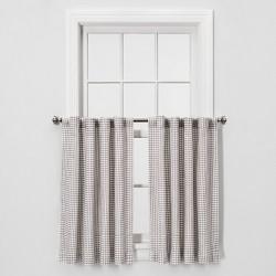 "2pc 36""x42"" Honeycomb Weave Curtain Panel Gray - Threshold™"