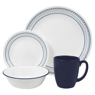 Corelle® Livingware™ 16pc Dinnerware Set Folk Stitch