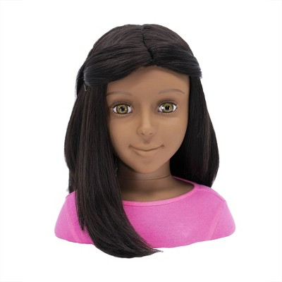 I'M A STYLIST Jasmine with Interchangeable Wig Styling Head - Brunnette Hair
