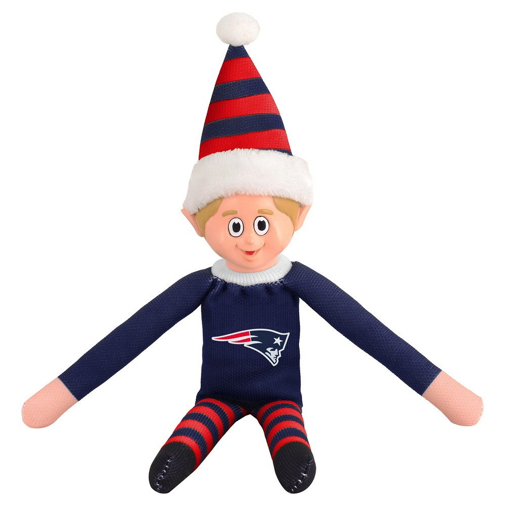 New England Patriots Forever Collectibles Plush Forever Collectibles - NFL Team Elf, New England Patriots - This Forever Collectibles Team Elf with provide hours of joy and holiday cheer for all. This officially licensed elf is sporting your favorite team's logo on his sweatshirt and a Santa hat for the season. Start a new tradition this year with your 2015 team elf! Age - 3 and up. Team elf is approximately 14 inches tall.