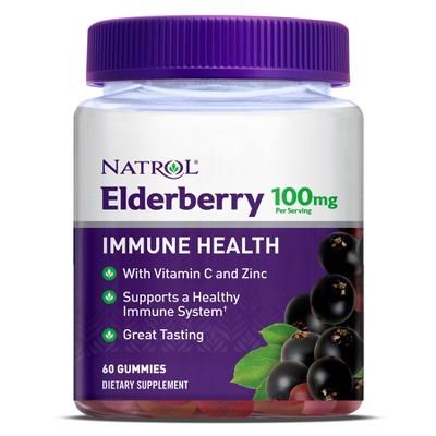 Natrol Elderberry 100mg Immune Health Gummy - 60ct