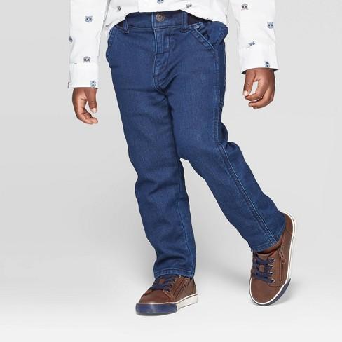 OshKosh B'gosh Toddler Boys' Woven Jeans - Blue - image 1 of 3