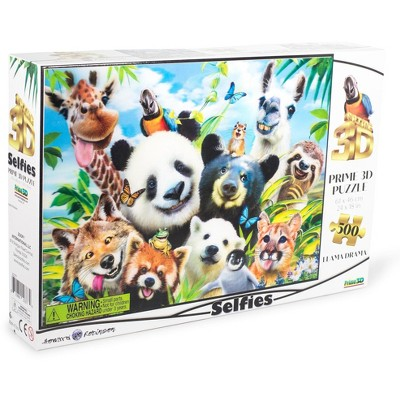 The Zoofy Group LLC Llama Drama Selfie Super 3D 500 Piece Jigsaw Puzzle For Adults And Kids