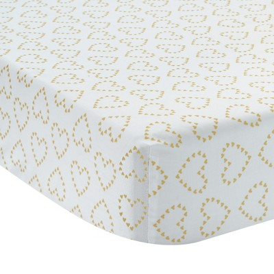Lambs & Ivy Confetti Fitted Crib Sheet - White