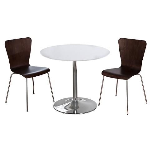 Hillsboro Dining Set White/Espresso 3 Piece - TMS - image 1 of 2