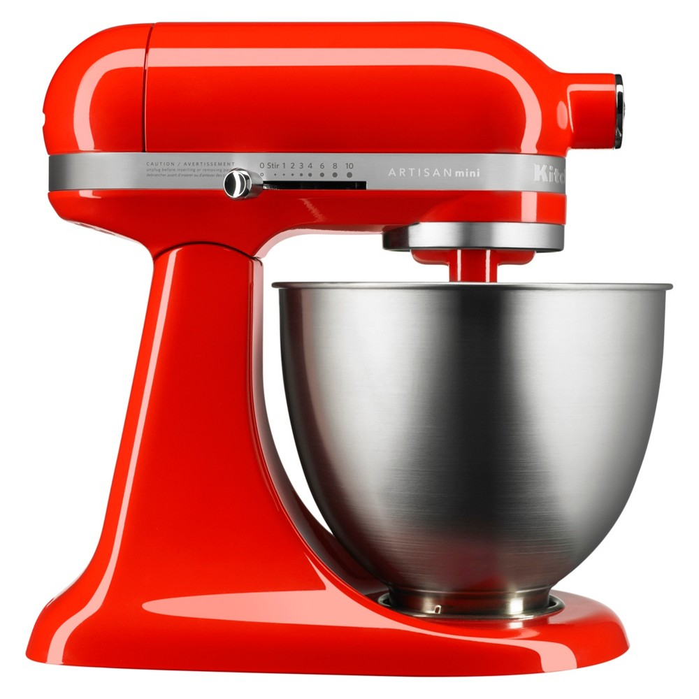 KitchenAid Refurbished Artisan Mini 3.5qt Tilt-Head Stand Mixer - Dark Orange RKSM33XXTB