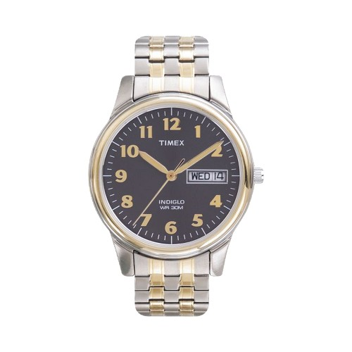 Men's Timex Expansion Band Watch - Two Tone/Black T26481JT, Size: Small