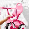 Radio Flyer 415PS Kids Readily Assembled Steel Framed Adjustable Beginner Fold 2 Go Trike with Spacious Storage Bin and Handle Streamers, Pink - image 4 of 4