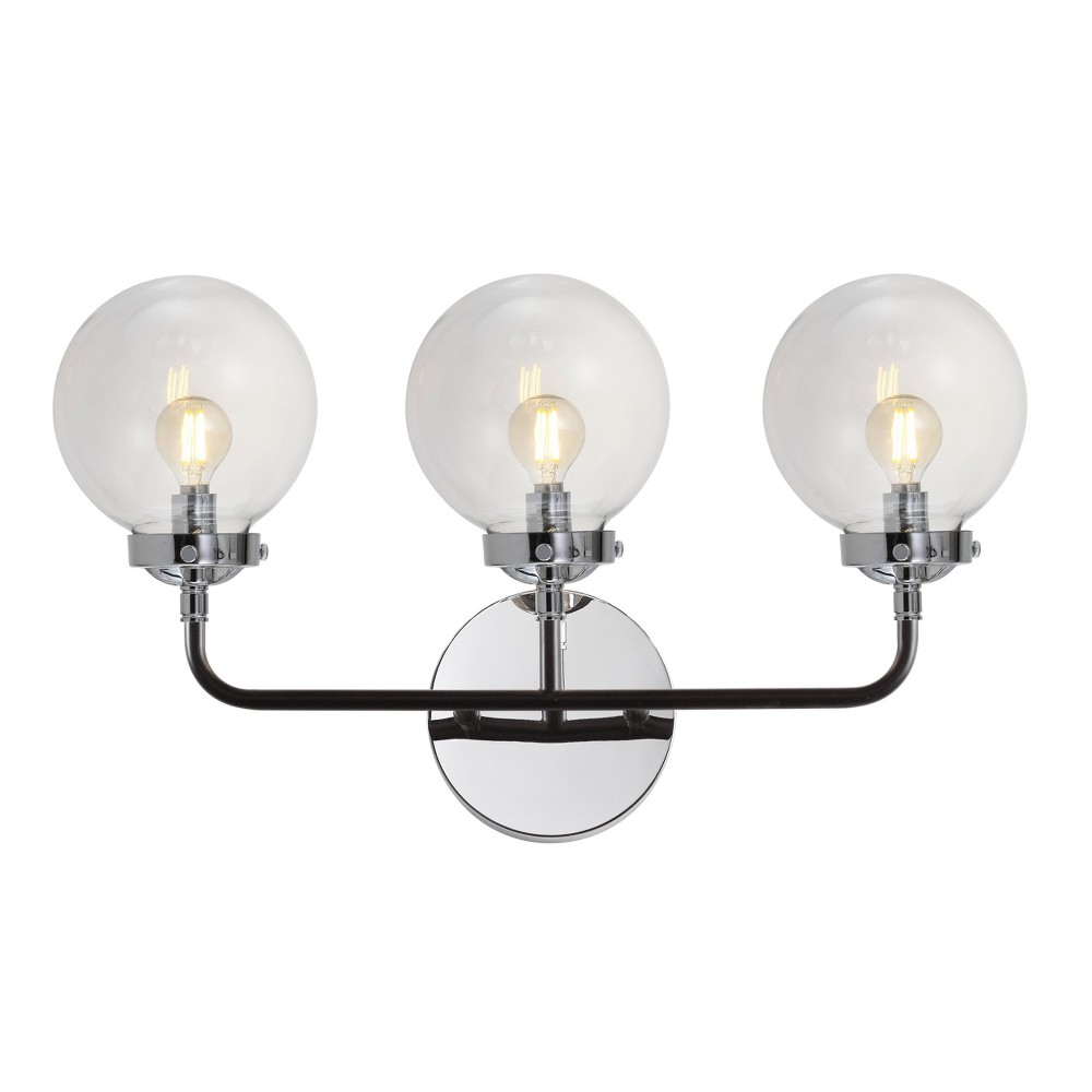 "Image of ""22"""" Caleb 3 Light Brass Wall Sconce Chrome (Includes Energy Efficient Light Bulb) - JONATHAN Y"""