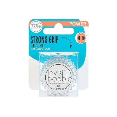 invisibobble Power Hair Ring - Crystal Clear - 3pk
