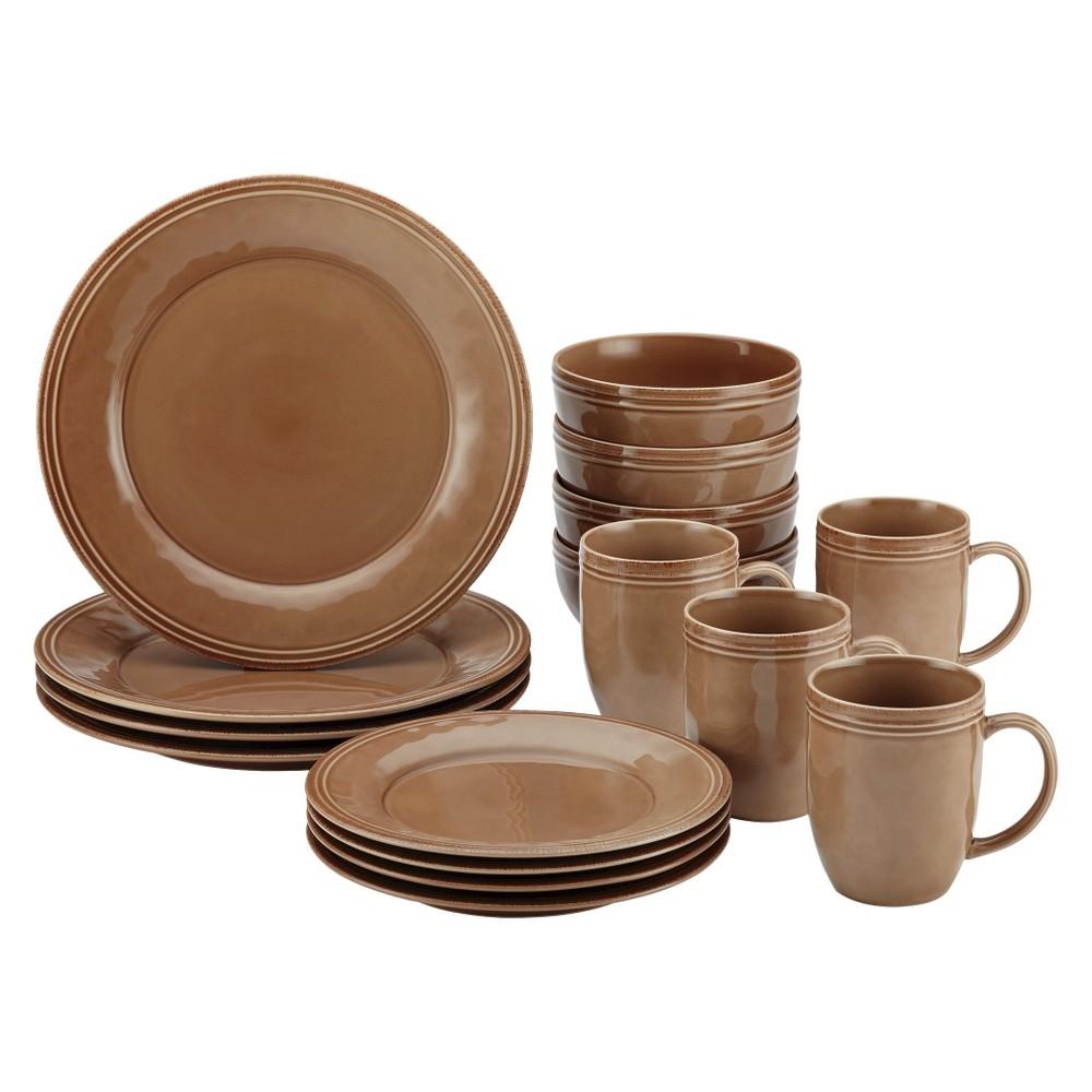 Image of Rachael Ray 16pc Cucina Dinnerware Set Brown