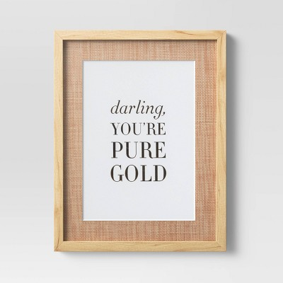 "14"" x 18"" Darling You're Gold Framed Print - Opalhouse™"