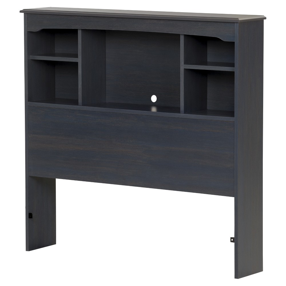Image of Aviron Bookcase Headboard - Twin - Blueberry - South Shore
