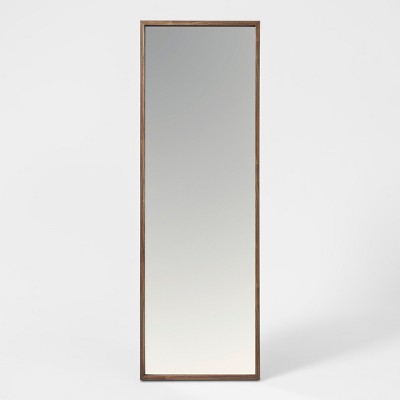 "60"" x 20"" Walnut Hairpin Finish Floor Mirror Brown - Project 62™"