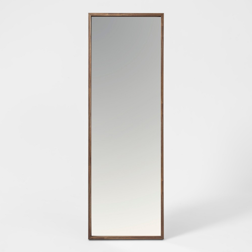 """Image of """"60""""""""x20"""""""" Walnut Hairpin Finish Floor Mirror Brown - Project 62"""""""