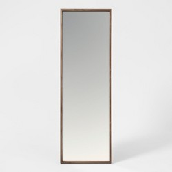 "60""x20"" Walnut Hairpin Finish Floor Mirror Brown - Project 62™"