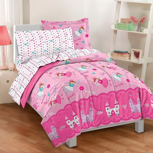 Dream Factory Magical Princess Mini Bed In A Bag Pink Twin