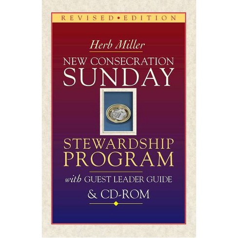 New Consecration Sunday Stewardship Program with Guest Leader Guide & CD-ROM - by  Herb Miller - image 1 of 1