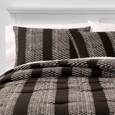 King Texture Hatch Stripe Comforter & Sham Set Black - Project 62™ + Nate Berkus™