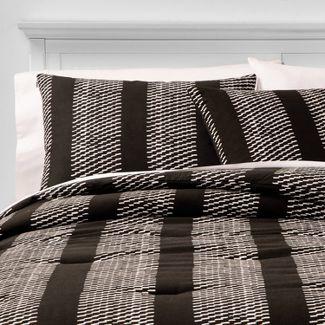 King Texture Hatch Stripe Comforter & Sham Set Black - Project 62™ + Nate Berkus™
