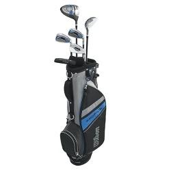 Wilson Profile Complete Junior Large Left Hand Golf Club Set with Golf Bag, Blue