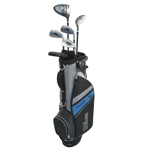 Wilson Profile Complete Junior Large Left Hand Golf Club Set with Golf Bag, Blue - image 1 of 4