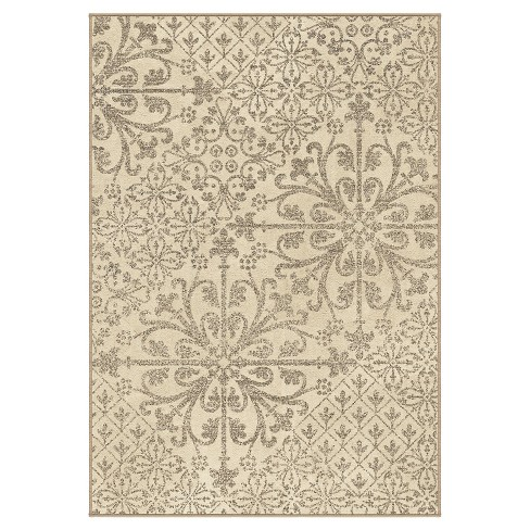 "Cream Abstract Woven Area Rug - (5'3""X7'6"") - Orian - image 1 of 4"