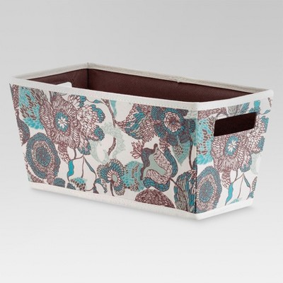 Fabric Quarter Bin - Gray and Pink Floral - Threshold™