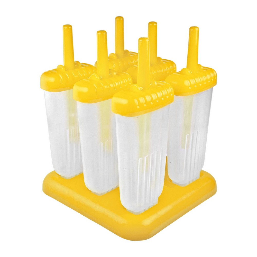 Image of Tovolo Groovy Popsicle Molds - Set of 6, Yellow