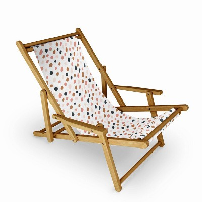 Avenie Cheetah Winter Collection Sling Chair - Deny Designs