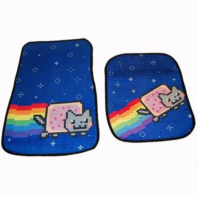 Just Funky Nyan Cat Car Floor Mats Set