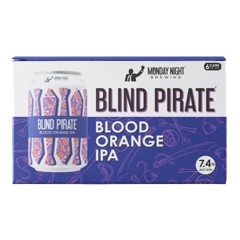 Monday Night Blind Pirate Blood Orange IPA Beer - 6pk/12 fl oz Cans - image 1 of 1