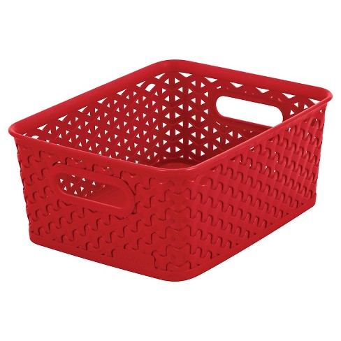 Y Weave Small Storage Bin - Red - Room Essentials™ - image 1 of 1