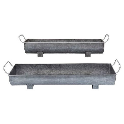 Metal Planters with Handles - Set of 2 - 3R Studios - image 1 of 1