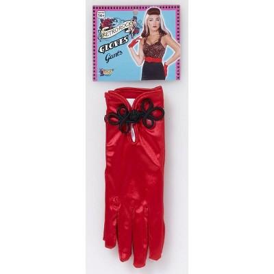 Forum Novelties Retro Rock Red Satin Short Costume Gloves Adult