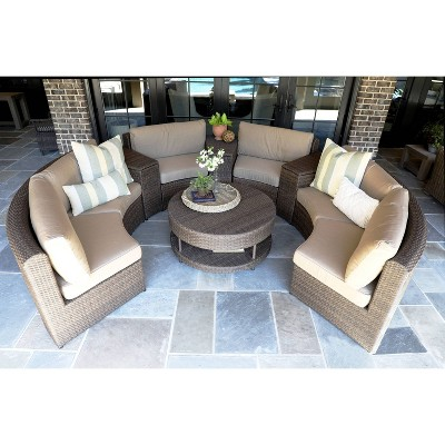 Cyprus Brown 8pc Sectional with Sunbrella - Canopy Home and Garden