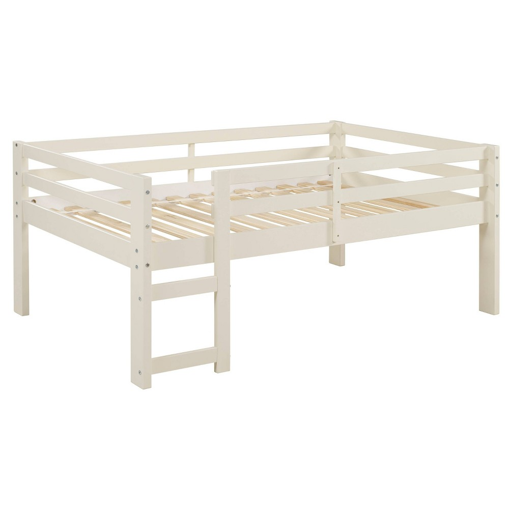 Solid Wood Low Loft Bed White - Saracina Home