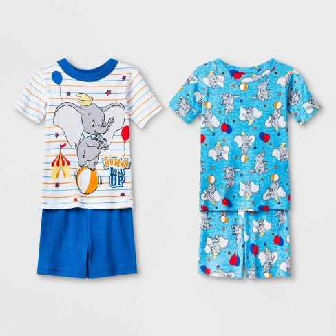 Toddler Boys' 4pc Dumbo Pajama Set - White/Blue - image 1 of 1