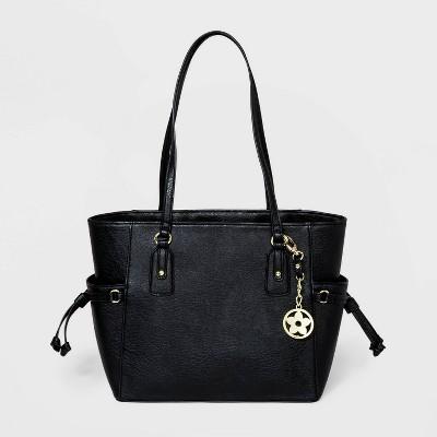 Bueno Zip Closure Tote Handbag - Black
