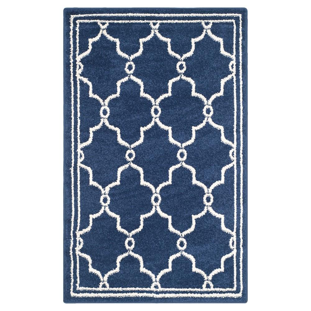Prato 2'6X4' Indoor/Outdoor Rug - Navy/Beige (Blue/Beige) - Safavieh