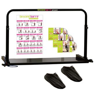 Beyond Barre Ballet Home Workout Sport Set w/ Glider System & Instructional DVDs