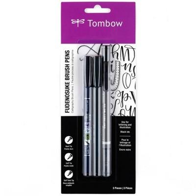 3ct Pen Set Fudenosuke - Tombow