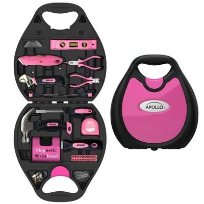 Apollo Tools 72pc DT4920P Household Tool Kit Pink