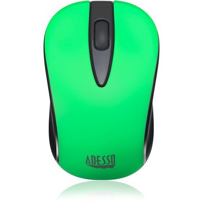 Adesso iMouse S70G - Wireless Optical Neon Mouse - Optical - Wireless - Radio Frequency - Neon Green - USB - 1000 dpi - Scroll Wheel - 3 Button(s)