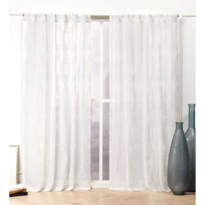Odense Hidden Tab Top Sheer Curtain Panel Pair - Nicole Miller