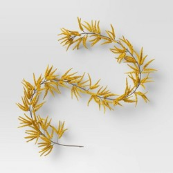 "72"" Artificial Goldenrod Garland Yellow - Threshold™"